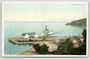 Port Kent Chesterfield NY~Lake Champlain~Steamer @ Boat Landing~Detroit Pub~1908