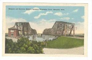 Memphis & Harrihan Bridges, Spanning Mississippi River, Memphis, Tennessee, 1...