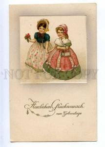 189572 BIRTHDAY Girls Victorian Dress Vintage EMBOSSED PC