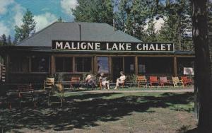 Fred Brewster´s Maligne Lake Chalet , Jasper National Park , Alberta, Canada...