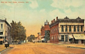 CIRCLEVILLE OHIO~MAIN & COURT STREETS~STOREFRONTS~CLEVELAND NEWS 1910 POSTCARD