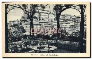Old Postcard Genova Castelletto di Alture