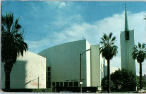 First Baptist Church Long Beach Pine Ave. California Postcard