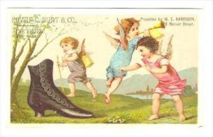 TC  Three angels & Shoe, EDWIN C. BURT & CO., Fine Shoes, New York City, 1890s