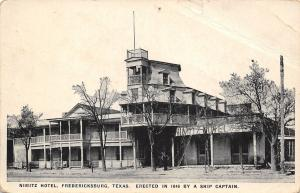 Fredericksburg Texas~Nimitz Hotel~Ship Captain Built~Wheelhouse~1916 B&W