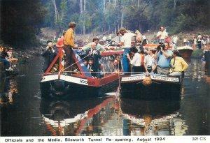 Postcard British England Northamptonshire  blisworth tunnel re-opening 1984