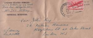 US Army Lieutenant Economy Division American 1945 WW2 Cover