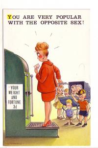 Fitzpatrick Bamforth 2359 Comic, Pregnant Woman, Baby Carriage and Many Child...