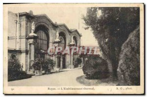 Old Postcard Royat Hydrotherapy