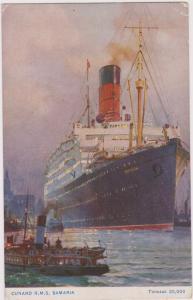 Oceanliner/Steamer, Cunard R. M. S. Samaria, Tonnage 20,000, 1900-1910s