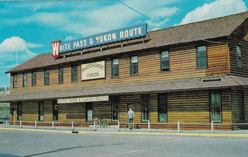 Alaska Whitehorse Yukon Territory White Pass & Yukon Route Train Station sk6573
