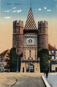 Spalentor, Partial Street View, BASEL, Switzerland, 1900-1910s