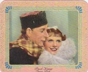 Garbaty Cigarette Card 1934 Modern Beauties No 227 Paul Kemp &  Inge List