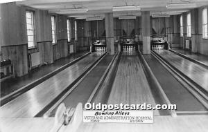 Bowling Alleys, Veterans Administration Hospital Tomah, Wisconsin, WI, USA Un...