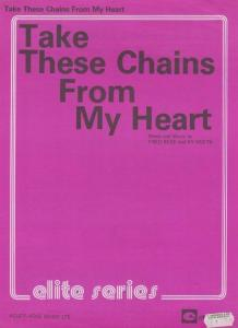 Take These Chains From My Heart Ray Charles 1970s Sheet Music