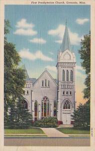 Mississippi Grenada First Presbyterian Church 1943 Curteich