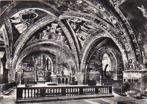 Italy Assisi Basilica inferiore di S Francesco Crociere e altare maggiore