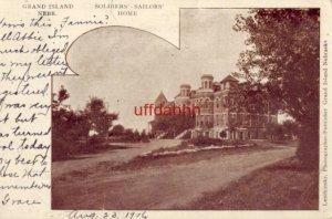 pre-1907 GRAND ISLAND, NE SOLDIERS' - SAILORS' HOME 1906