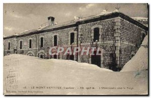 Old Postcard Mont Ventoux Vaucluse Observatory in the Snow