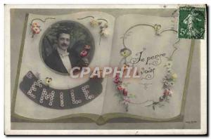 Old Postcard Fancy Emile Surname