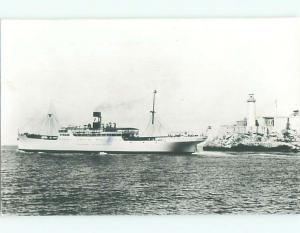 rppc 1948 VACCARO LINE STEAMER - CRUISE SHIP BOAT TO CUBA AC8106