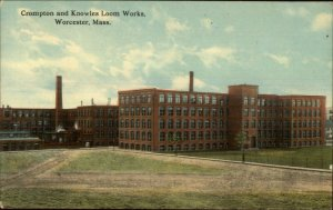 Worcester MA Crompton & Knowles Loom Works c1910 Postcard