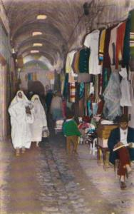 Tunis Typical Market Scene Locals In Typical Costume 1964