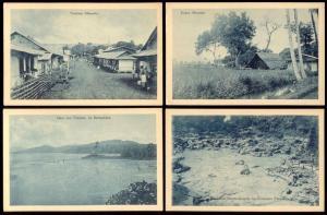 indonesia, Lot of 10 Postcards, CELEBES MENADO, Tomohon, Kakas, Tondano (1920s)