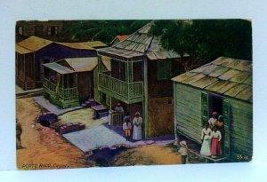 Cayey Puerto Rico Houses People Vintage Postcard