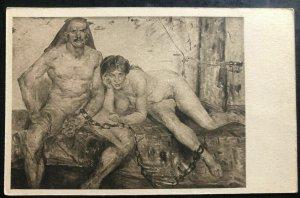 Mint Danzig Germany Picture Postcard Lovis Corinth Art die gefesselten