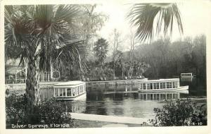 Amusement Silver Springs Florida 1940s RPPC Photo Postcard Cline 446