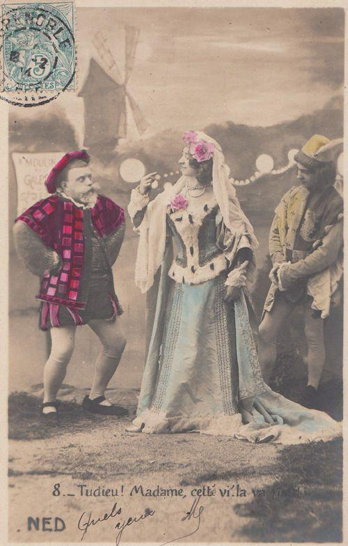 Court Dwarf Jester French Costume 1904 Antique Postcard