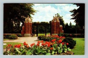 Windsor Ontario- Canada, Jackson Park Gates, Chrome Postcard