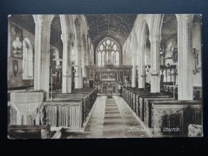 Cornwall KIRKHAMPTON Church Interior c1915 Postcard by Frith 62410