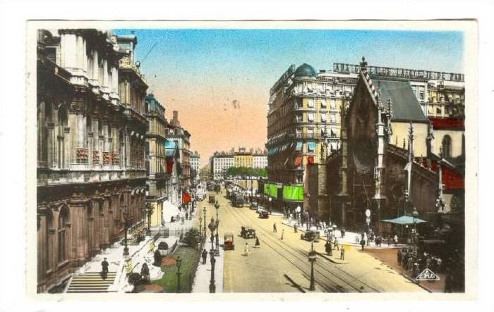 RP: Lyon , France, Place des Cordeliers et l'Eglise Saint-Bonaventure, 1910-30s