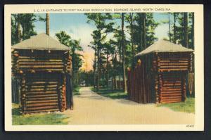 Roanoke Island, North Carolina/NC Postcard, Fort Raleigh