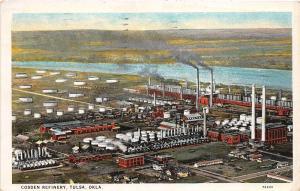 D87/ Tulsa Oklahoma Ok Postcard 1930 Cosden Oil Refinery Tanks Company