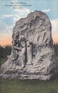 BARRE, Vermont; Elia Corti Statue, Cut from one piece of Granite, 00-10s