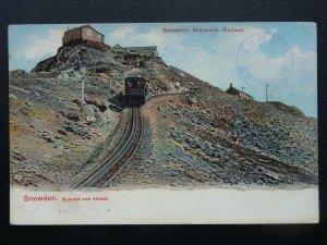 Snowdonia Mountain Railway SNOWDON SUMMIT & HOTELS - Old Postcard