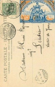 EXPOSITION CANTONALE VAUDOISE 1901 Vevey Sentier vignette Magnenat Lausanne RARE
