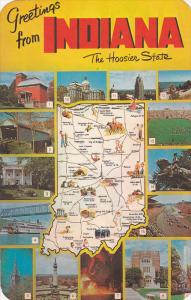 Greetings from INDIANA, Map & 11 Views of the Hoosier State