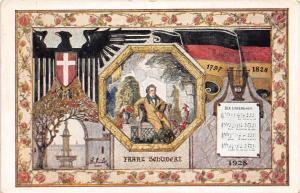 D47/ Vienna Germany Postcard German c1928 Sangerbundesfeltes Franz Schubert 33