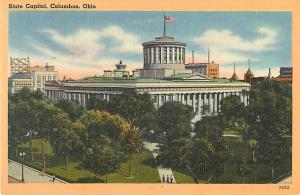 Linen Card of State Capitol Columbus Ohio OH 1955