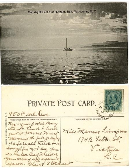 Canada - 1905/6 English Bay, Vancouver B.C. View Card