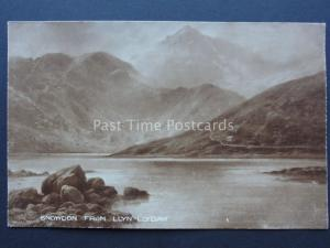 North Wales SNOWDON from LLYN LLYDAW Art by Elmer Keene c1908 Postcard