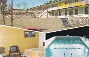 BERESFORD, New Brunswick, Canada, PU-1986; Multiple Views Of John's Motel, Sw...