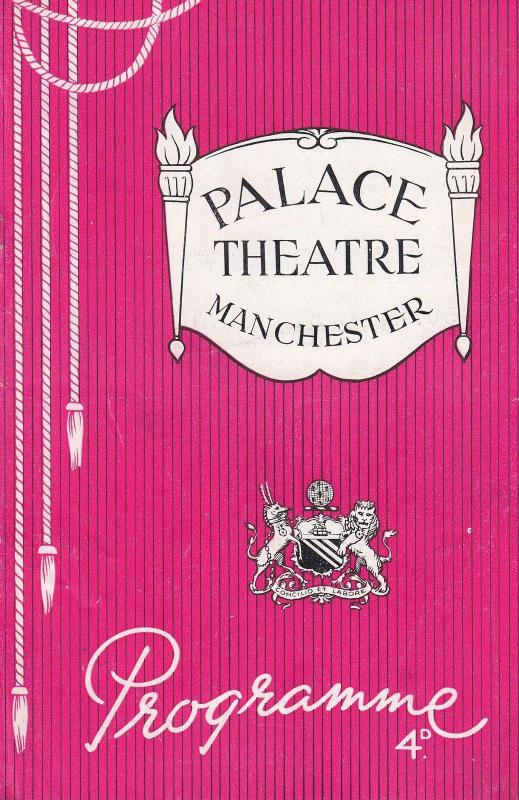 Over The Moon Cicely Courtneidge Manchester 1950s Palace Theatre Programme