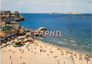 Modern Postcard Marseille The Catalans beach