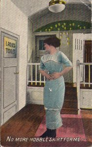 Sexy Comic, Woman w Hobbleskirt, Ladies' Toiiet, 1912 , Condition