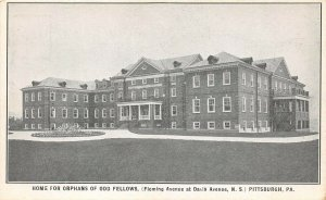LPS46 Pittsburgh Pennsylvania Odd Fellows Orphan Home Private Mailing Card
